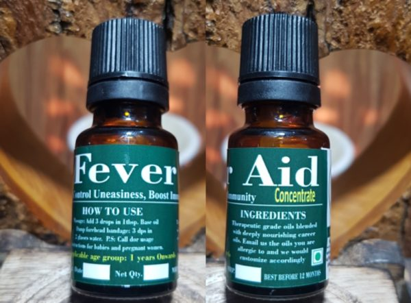 Fever Aid, Triaanyas health Mantra, Purnima bahuguna, Top Organic product company in India, Handmade Product, Fever Aid, Ayurveda oil to reduce fever, Natural solution for reduce fever,