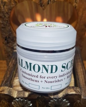 Almond Scrub, Triaanyas health Mantra, Purnima bahuguna, Top Organic product company in India,